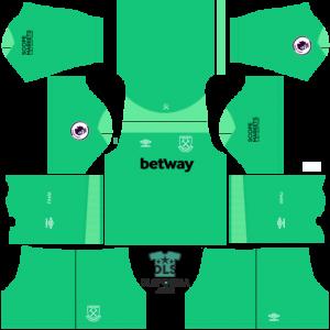 West Ham 2021 dls 19 kits goalkeeper